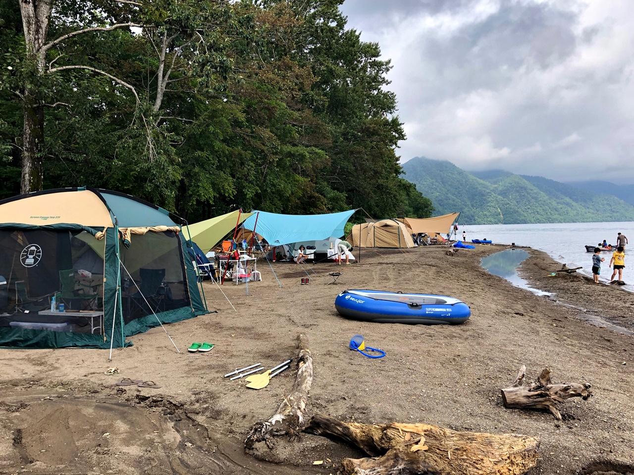 入れ替え キャンプ サイト