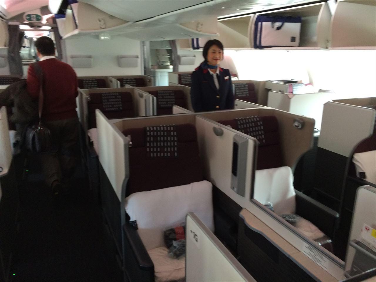 それに今回向かうフランクフルト便には昨年秋からボーイング787による運航しかもJALの新ビジネスクラス「JAL SKY  SUITE」が導入されていましたこのJAL SKY SUITE窓際は